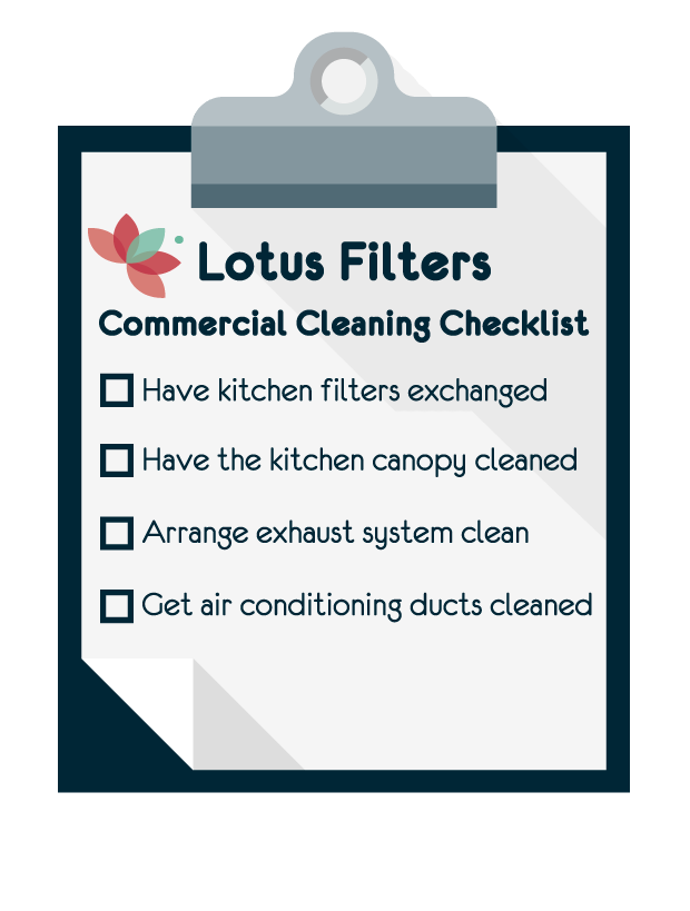 Lotus Filters cleaning checklist