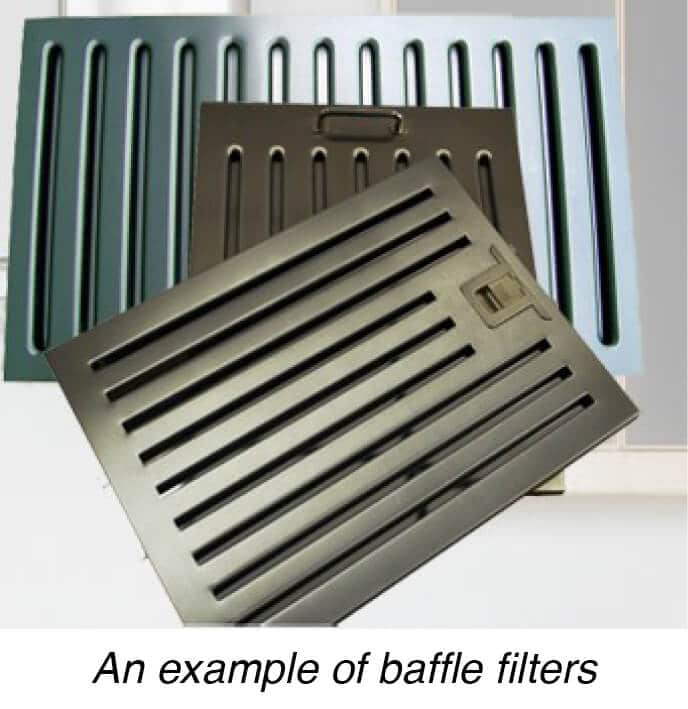 An example of baffle filters