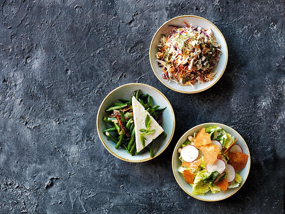 Three kinds of salads from Zeus Greek Street